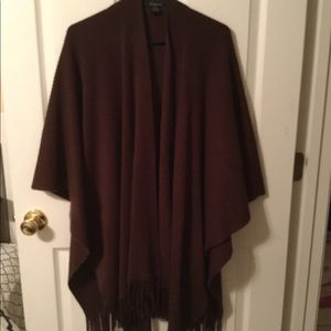 Cejon Brown Fringe Wrap O/S